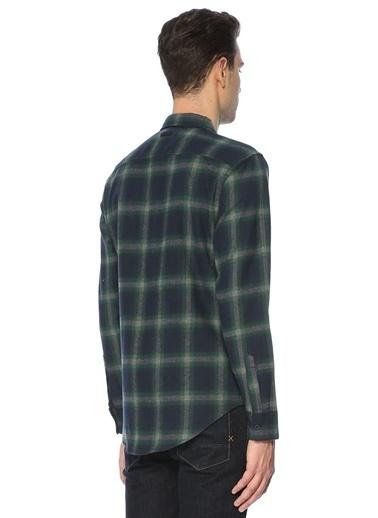 Bellfield Kareli Uzun Kollu Gömlek Lacivert